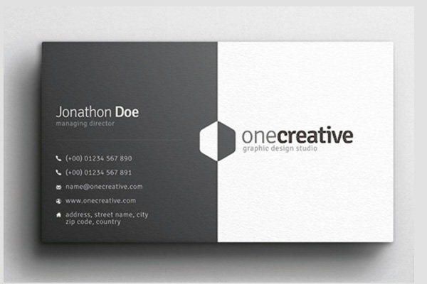 Brandall One Sided Business Card
